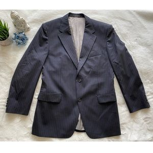 BOSS Hugo Boss Navy Pin Stripe Stretch Blazer 46R
